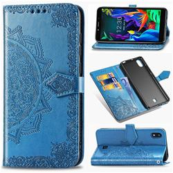Embossing Imprint Mandala Flower Leather Wallet Case for LG K20 (2019) - Blue