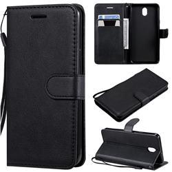 Retro Greek Classic Smooth PU Leather Wallet Phone Case for LG K30 (2019) 5.45 inch - Black