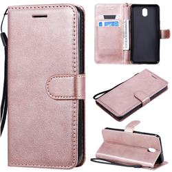 Retro Greek Classic Smooth PU Leather Wallet Phone Case for LG K30 (2019) 5.45 inch - Rose Gold