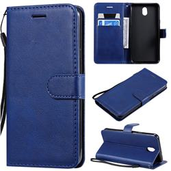 Retro Greek Classic Smooth PU Leather Wallet Phone Case for LG K30 (2019) 5.45 inch - Blue