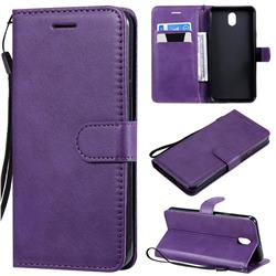 Retro Greek Classic Smooth PU Leather Wallet Phone Case for LG K30 (2019) 5.45 inch - Purple