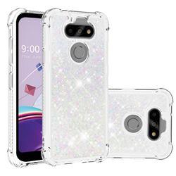 Dynamic Liquid Glitter Sand Quicksand Star TPU Case for LG K31 - Pink