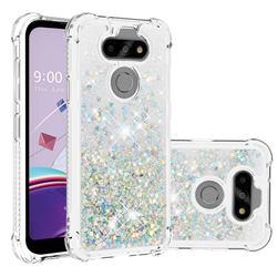 Dynamic Liquid Glitter Sand Quicksand Star TPU Case for LG K31 - Silver