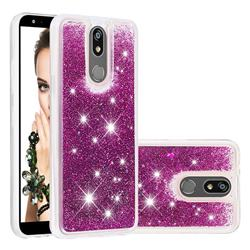 Dynamic Liquid Glitter Quicksand Sequins TPU Phone Case for LG K40 (LG K12+, LG K12 Plus) - Purple