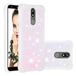 Dynamic Liquid Glitter Sand Quicksand TPU Case for LG K40 (LG K12+, LG K12 Plus) - Silver Powder Star