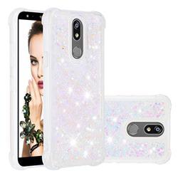 Dynamic Liquid Glitter Sand Quicksand Star TPU Case for LG K40 (LG K12+, LG K12 Plus) - Pink