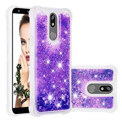Dynamic Liquid Glitter Sand Quicksand Star TPU Case for LG K40 (LG K12+, LG K12 Plus) - Purple