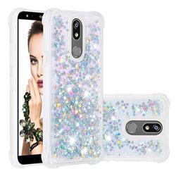 Dynamic Liquid Glitter Sand Quicksand Star TPU Case for LG K40 (LG K12+, LG K12 Plus) - Silver