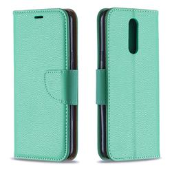 Classic Luxury Litchi Leather Phone Wallet Case for LG K40 (LG K12+, LG K12 Plus) - Green