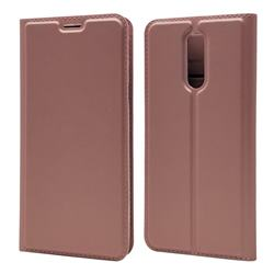 Ultra Slim Card Magnetic Automatic Suction Leather Wallet Case for LG K40 (LG K12+, LG K12 Plus) - Rose Gold