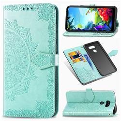 Embossing Imprint Mandala Flower Leather Wallet Case for LG K40S - Green