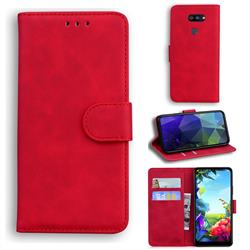 Retro Classic Skin Feel Leather Wallet Phone Case for LG K40S - Red