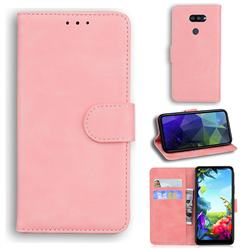 Retro Classic Skin Feel Leather Wallet Phone Case for LG K40S - Pink