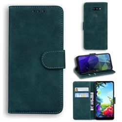 Retro Classic Skin Feel Leather Wallet Phone Case for LG K40S - Green