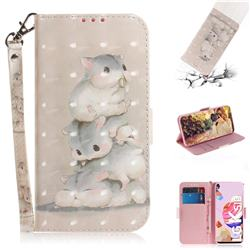 Three Squirrels 3D Painted Leather Wallet Phone Case for LG K41S