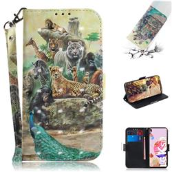 Beast Zoo 3D Painted Leather Wallet Phone Case for LG K41S