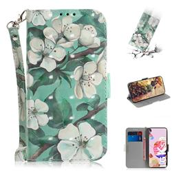 Watercolor Flower 3D Painted Leather Wallet Phone Case for LG K41S