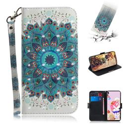 Peacock Mandala 3D Painted Leather Wallet Phone Case for LG K41S