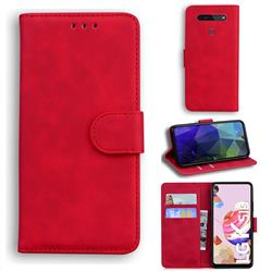 Retro Classic Skin Feel Leather Wallet Phone Case for LG K41S - Red