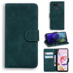 Retro Classic Skin Feel Leather Wallet Phone Case for LG K41S - Green