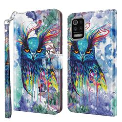 Watercolor Owl 3D Painted Leather Wallet Case for LG K42 K52 Q52