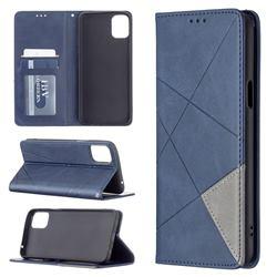 Prismatic Slim Magnetic Sucking Stitching Wallet Flip Cover for LG K42 - Blue