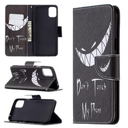 Crooked Grin Leather Wallet Case for LG K42