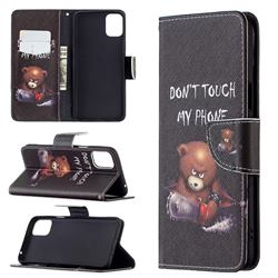 Chainsaw Bear Leather Wallet Case for LG K42