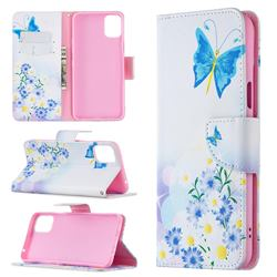 Butterflies Flowers Leather Wallet Case for LG K42