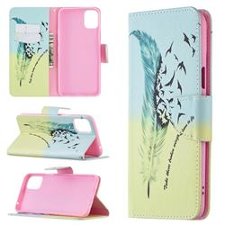 Feather Bird Leather Wallet Case for LG K42