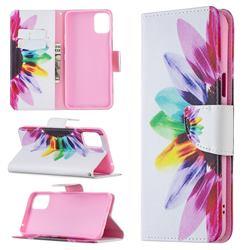 Seven-color Flowers Leather Wallet Case for LG K42