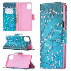 Blue Plum Leather Wallet Case for LG K42