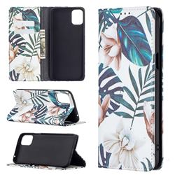Flower Leaf Slim Magnetic Attraction Wallet Flip Cover for LG K42