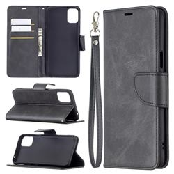 Classic Sheepskin PU Leather Phone Wallet Case for LG K42 - Black