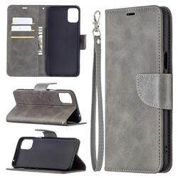 Classic Sheepskin PU Leather Phone Wallet Case for LG K42 - Gray