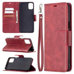 Classic Sheepskin PU Leather Phone Wallet Case for LG K42 - Red
