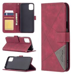 Binfen Color BF05 Prismatic Slim Wallet Flip Cover for LG K42 - Red