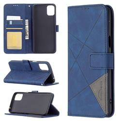 Binfen Color BF05 Prismatic Slim Wallet Flip Cover for LG K42 - Blue