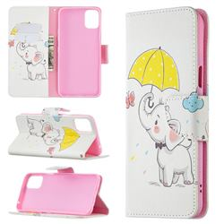 Umbrella Elephant Leather Wallet Case for LG K42