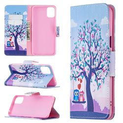 Tree and Owls Leather Wallet Case for LG K42
