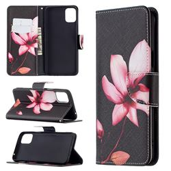 Lotus Flower Leather Wallet Case for LG K42