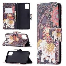 Totem Flower Elephant Leather Wallet Case for LG K42
