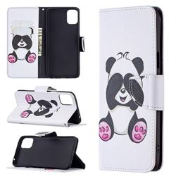 Lovely Panda Leather Wallet Case for LG K42