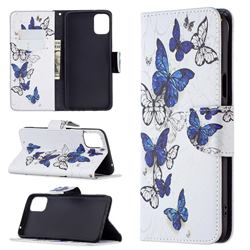Flying Butterflies Leather Wallet Case for LG K42