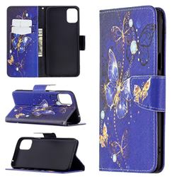 Purple Butterfly Leather Wallet Case for LG K42