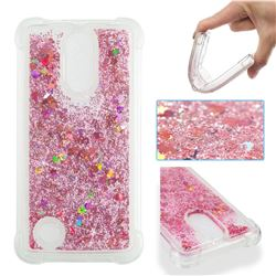 Dynamic Liquid Glitter Sand Quicksand Star TPU Case for LG K4 (2017) M160 Phoenix3 Fortune - Diamond Rose