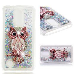 Seashell Owl Dynamic Liquid Glitter Quicksand Soft TPU Case for LG K4 (2017) M160 Phoenix3 Fortune