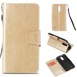 Retro Phantom Smooth PU Leather Wallet Holster Case for LG K4 (2017) M160 Phoenix3 Fortune - Champagne