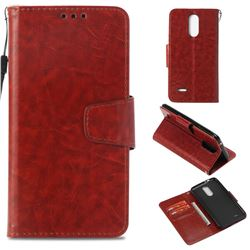 Retro Phantom Smooth PU Leather Wallet Holster Case for LG K4 (2017) M160 Phoenix3 Fortune - Brown