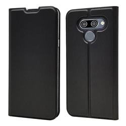 Ultra Slim Card Magnetic Automatic Suction Leather Wallet Case for LG K50 - Star Grey